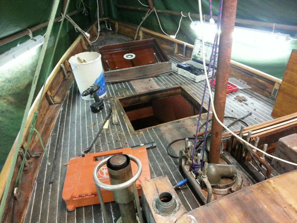 Träbåt, wenonah, segelbåt, vårrustning